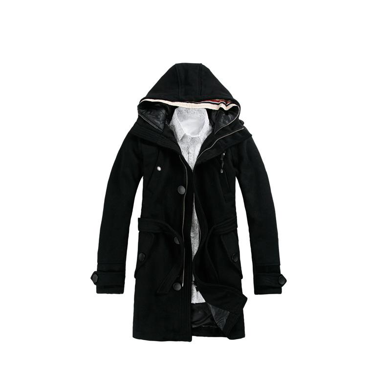 羊毛呢大衣 黑色---yk8耀客服饰