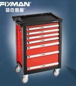 多层万向轮工具车多层五金工具箱 红色