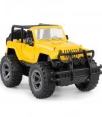 惯性越野车模型儿童益智模型玩具 黄色