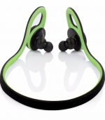 蓝牙耳机后挂耳式硅胶舒适 绿色