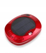 太阳能车载空气净化器汽车内饰 红色