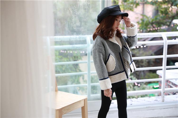 YK8耀客风衣外套系列 可爱中大童拉链外套 灰色 款号:wq-3078