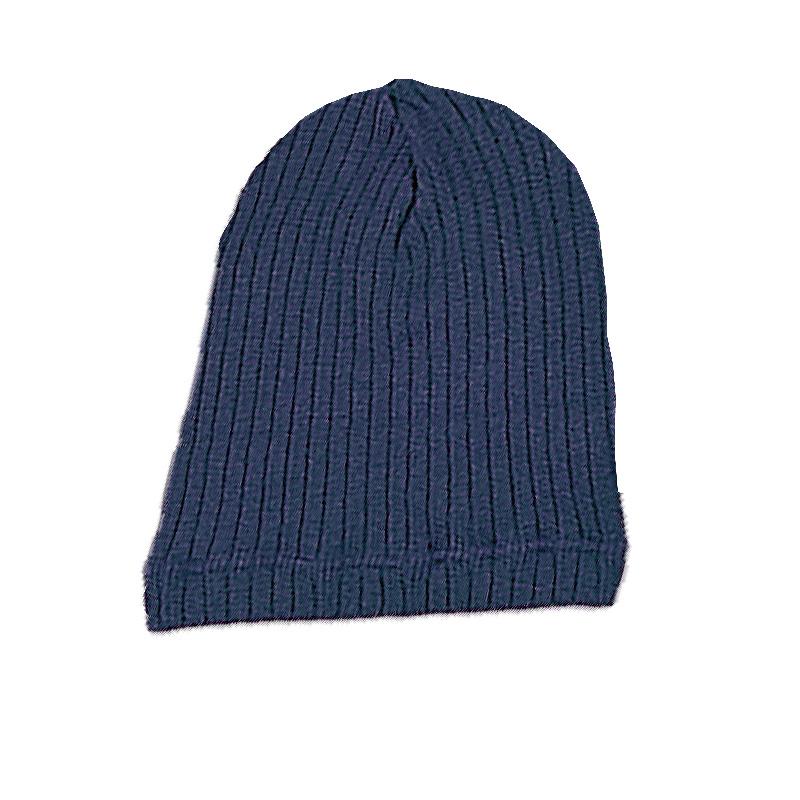 YK8耀客负离子时尚百搭帽 负离子保健针织帽子 深蓝 款号:AS009-1