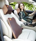 车用时尚腰枕记忆棉腰靠背垫 棕色
