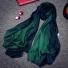 桑蚕丝丝巾真丝羊毛围巾 绿色