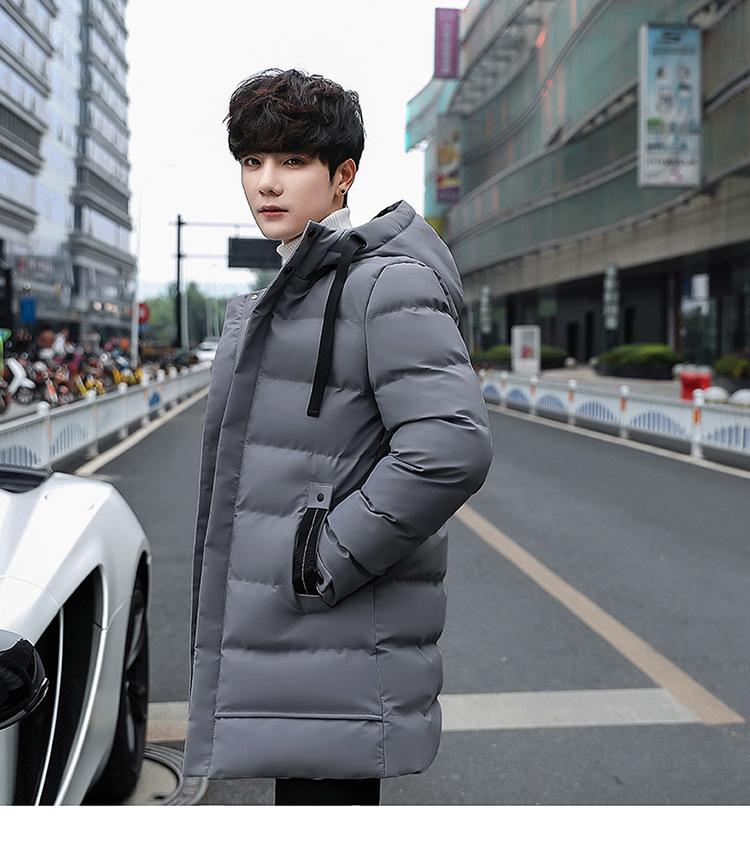 YK8耀客棉衣外套系列 青少年连帽棉衣修身潮男外套 灰色 款号:ks-64141