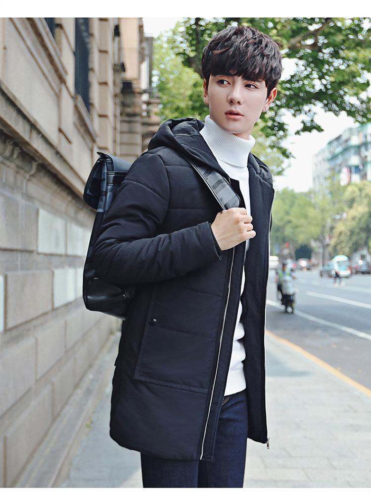 YK8耀客棉衣外套系列 男式棉服连帽加厚棉衣男外套 深灰色 款号:mp-0155