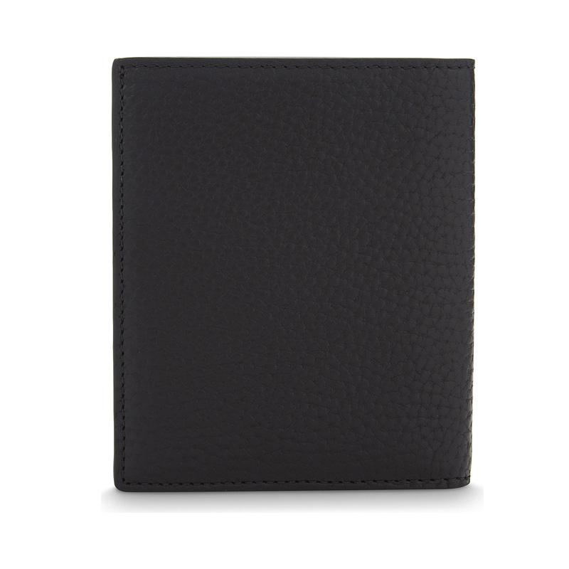 YK8耀客箱包品牌系列 三折粒面皮革卡夹包 棕色 款号:af-67413