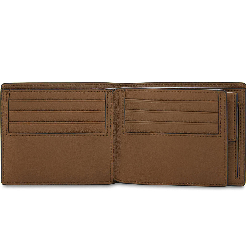 YK8耀客箱包品牌系列 三折粒面皮革卡夹 黑色 款号:hd-48624