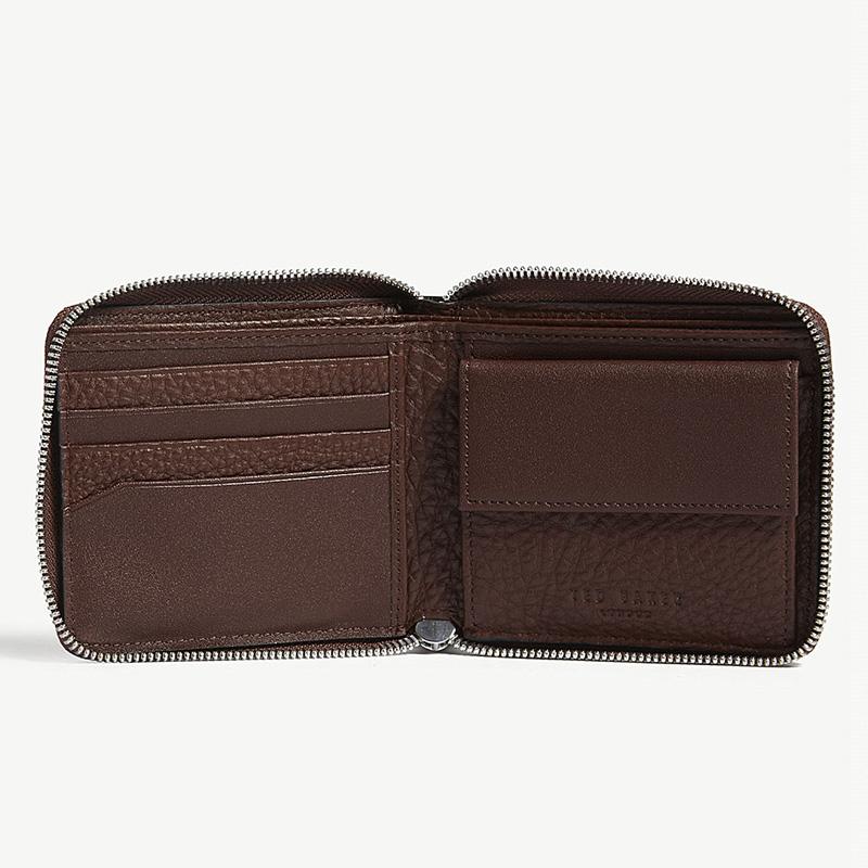 YK8耀客箱包品牌系列 粒面皮革硬币钱包 黑色 款号:uz-71814