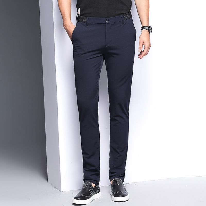 YK8耀客时尚帅气韩版休闲裤 韩版青年休闲西裤 蓝色 款号:ur-49322