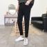 韩版男装裤子修身牛仔裤 黑色