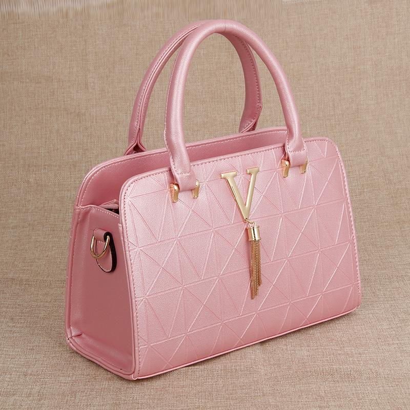 YK8耀客手提包单肩包 时尚单肩女士手提包斜跨包 粉红色 款号:ds-54624