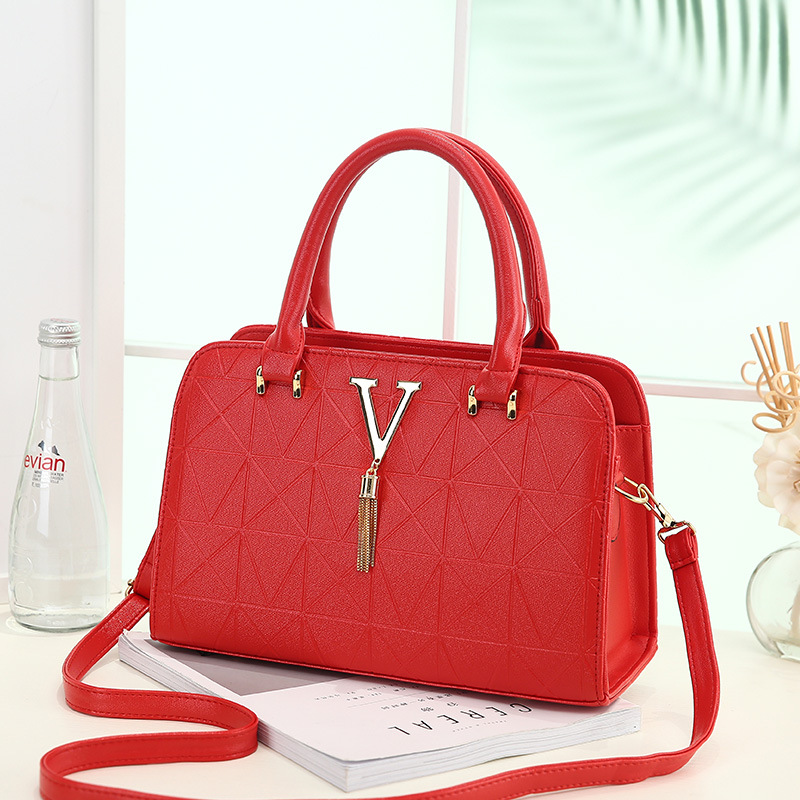 YK8耀客手提包单肩包 时尚单肩女士手提包斜跨包 红色 款号:ri-86215