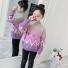韩版针织仿貂毛圆领套头毛衣 紫色