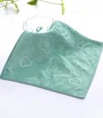 超细纤维方巾 压花青色