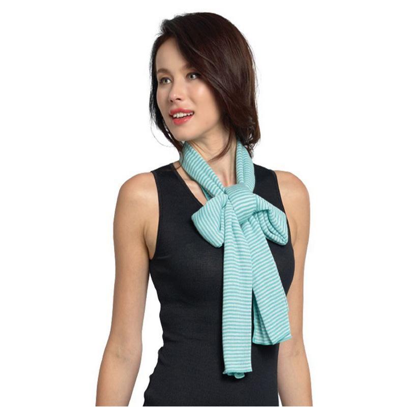 YK8耀客负离子围巾系列 负离子风采条纹围巾 紫色 款号:AS004-2