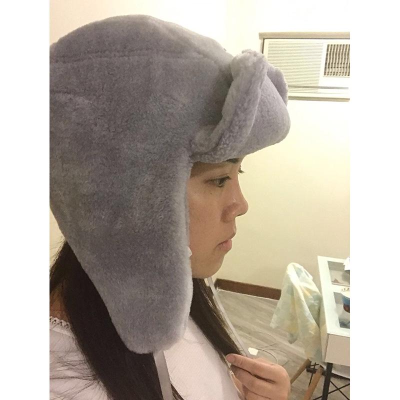 YK8耀客负离子保健服饰系列 负离子保暖厚绒帽子 灰色 款号:wq-87982