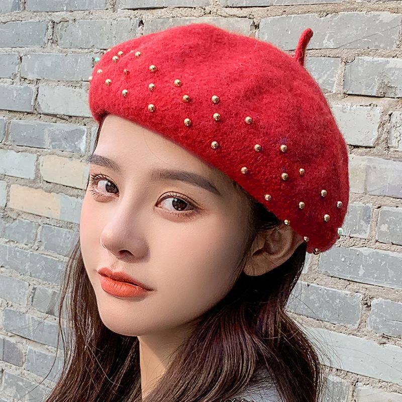 YK8耀客帽子系列 贝雷帽子韩版纯色简约时尚 浅咖 款号:xb-22915