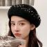 贝雷帽子韩版纯色简约时尚 黑色