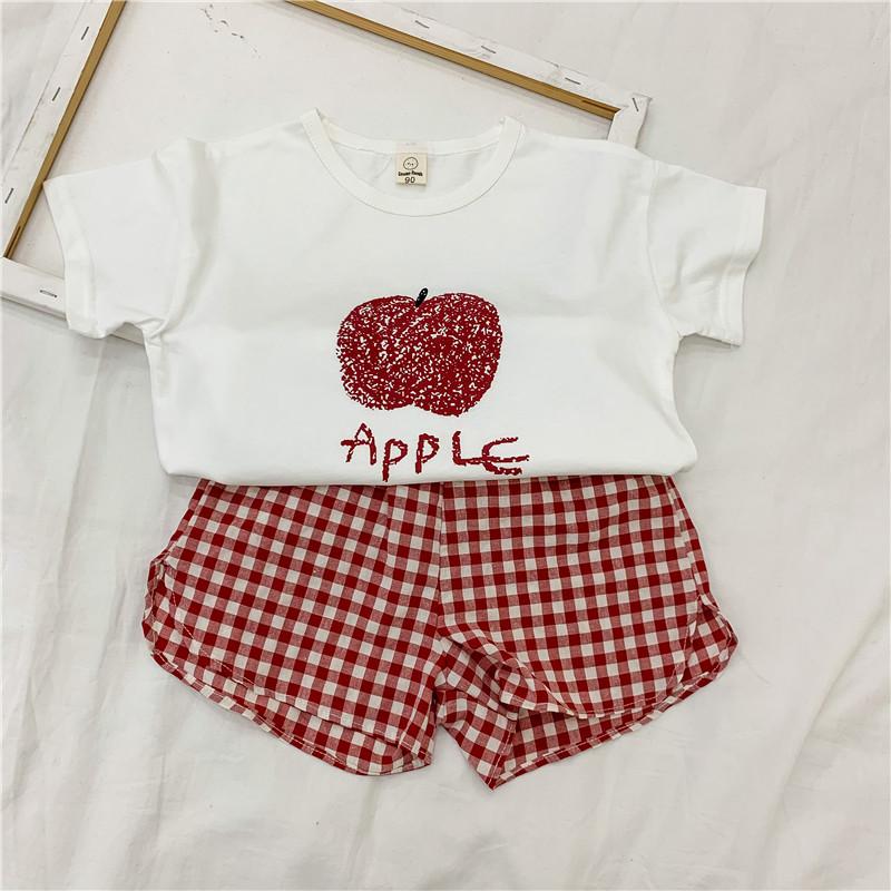 YK8耀客夏装套装 夏季纯棉韩版童装套装 粉色 款号:ve-0524