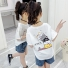 卡通上衣中大童T恤童装 白色