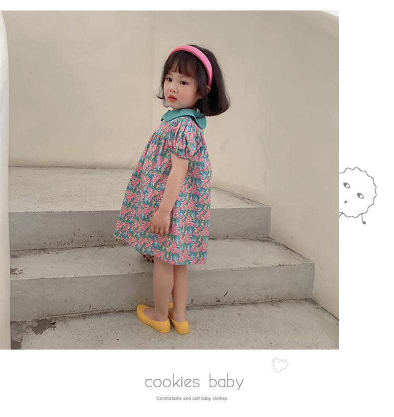 YK8耀客夏季连衣裙 印花泡泡袖公主裙连衣裙 黄色 款号:ap-7103