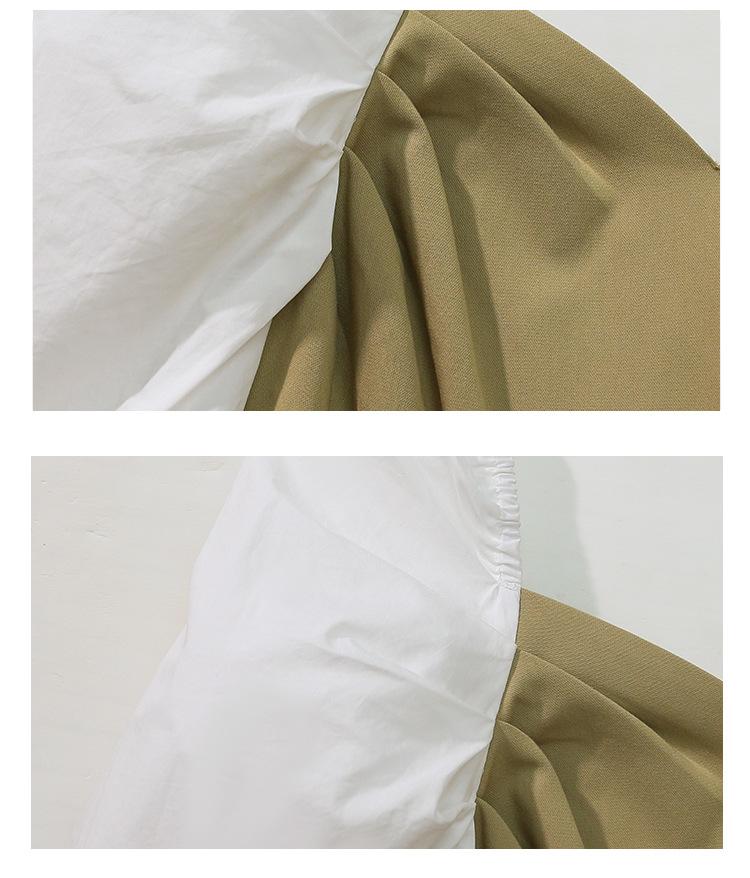 YK8耀客秋冬季连衣裙 优雅拼接裙子长袖连衣裙 黑色 款号:bz-4674