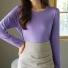 莫代尔弹力长袖T恤 紫色