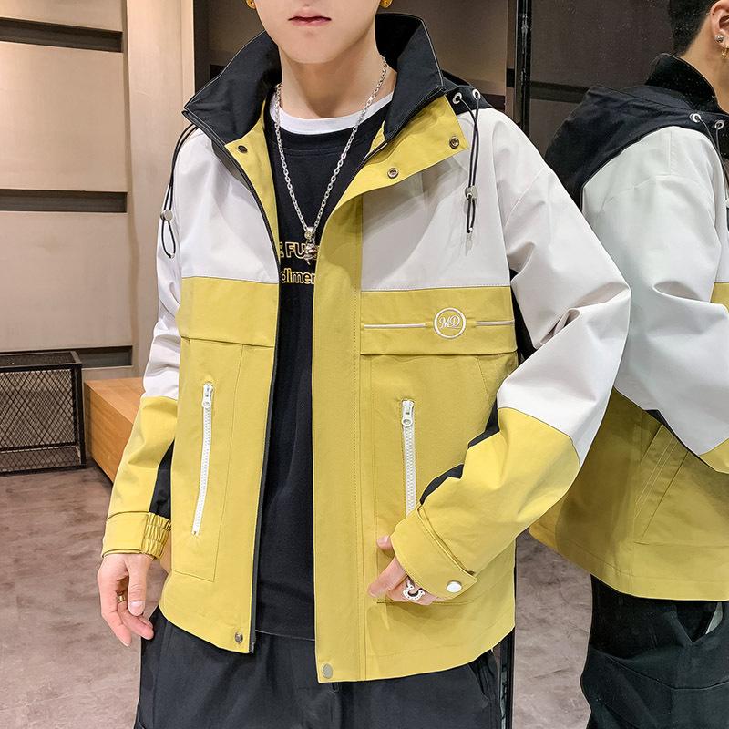 YK8耀客夹克 工装时尚连帽夹克青年韩版 蓝色 款号:jz-3227