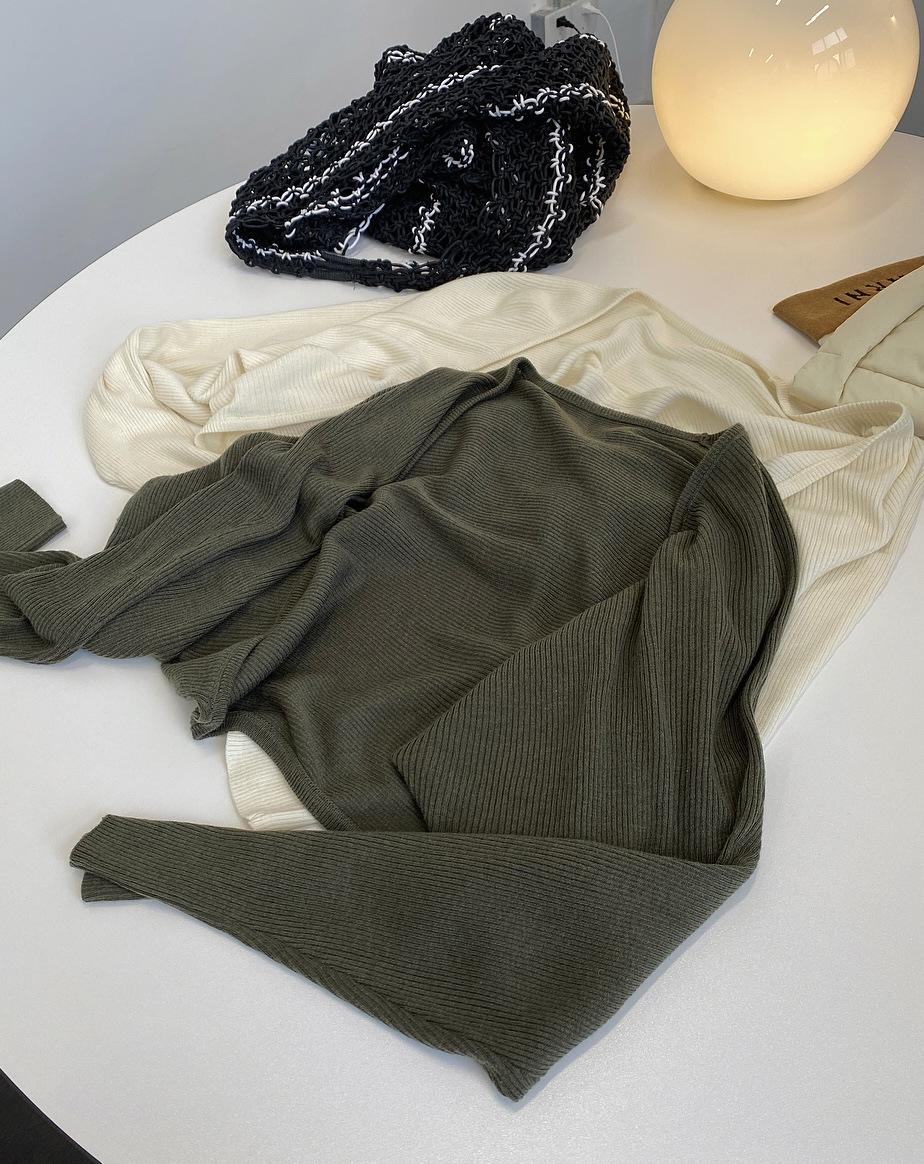 YK8耀客秋装外套系列 一片式针织披肩宽松外套 黑色 款号:bp-1529
